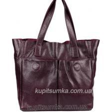 Женская сумка из натуральной кожи 02PB-12 Бордовый