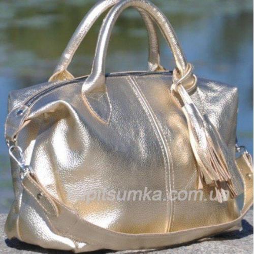 Женская кожаная сумка PB20-6 Золотистый