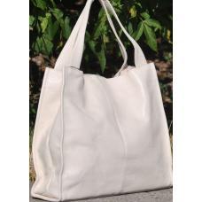 Кожаная женская сумка Casual 12-1PB Бежевый