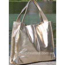 Женская кожаная сумка Casual 12-1PB-5 Золотистый