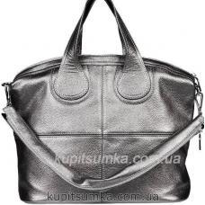 Женская сумка из натуральной кожи PV22-10 Графитовый