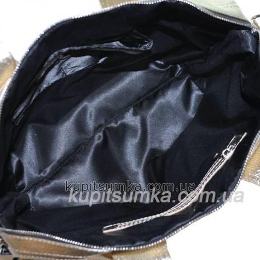 Женская сумка кожаная PV22-8 Золотистый