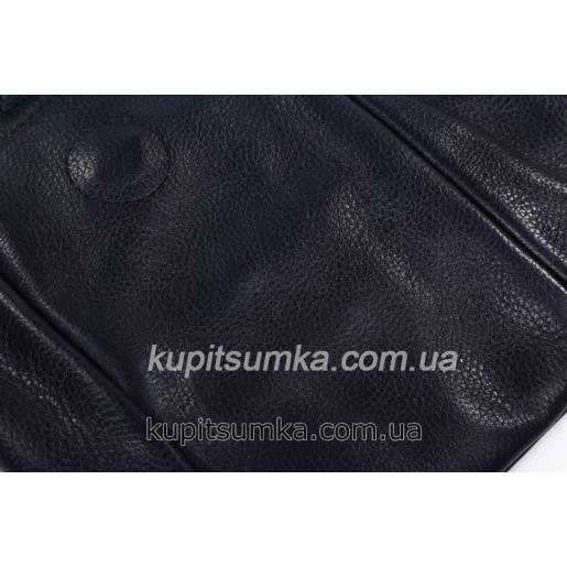 Женская сумка из натуральной кожи флотар синего цвета