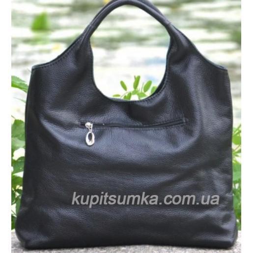 Женская кожаная сумка Хобо 15B Черный