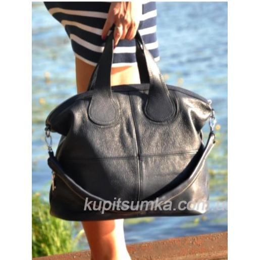Женская сумка из натуральной кожи PV22-12 Синий