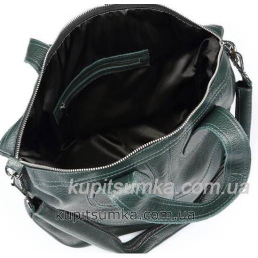 Зеленая женская сумка из натуральной кожи PV22-3