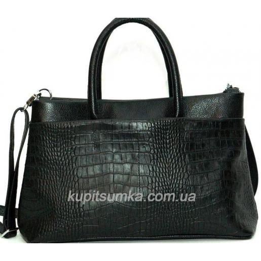 Женская кожаная сумка PV47 Черный