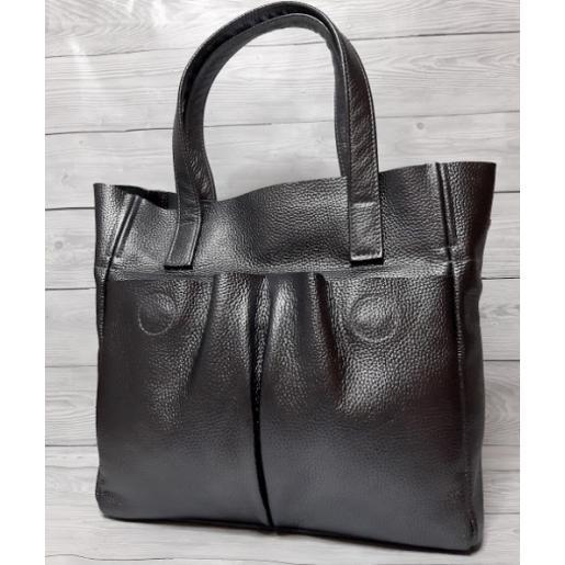Кожаная женская сумка 02PB-2 Графитовый