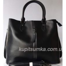 Кожаная женская сумка 65Н8 Черный