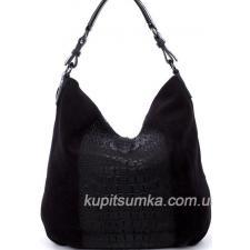 Женская сумка из замши коричневая 79N-27