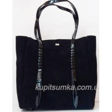 Женская замшевая сумка Shopper VF56N Черный