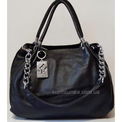 Женская сумка кожаная Polina & Eiterou 001Н Черный
