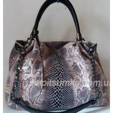 Женская сумка Nobo Bag из натуральной кожи Бежево - коричневая