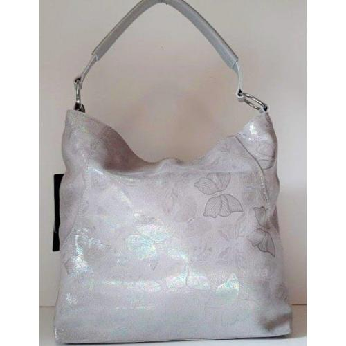 Красивая сумочка из натуральной кожи с мерцающими бабочками