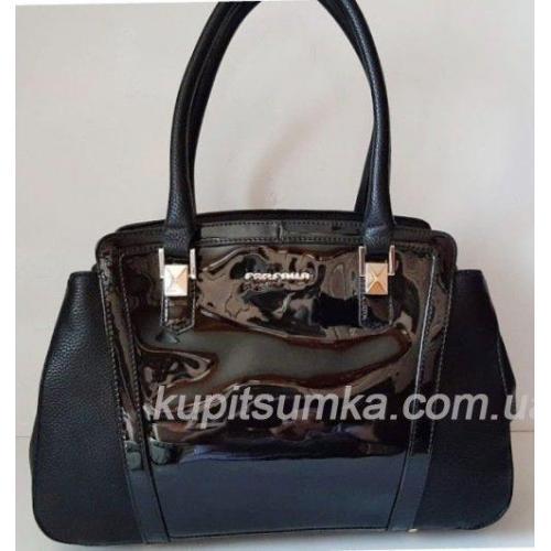 Обаятельная классическая сумка из кожзаменителя чёрного цвета