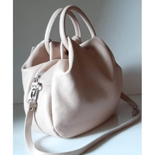 Женская сумка из кожи 31PB-12 Пудровый
