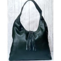 Женская кожаная сумка 305N green