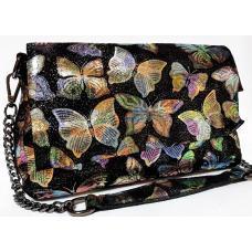 Женская сумка из замши черная FR399N