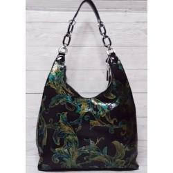 Женская кожаная сумка FR597-4N Черный