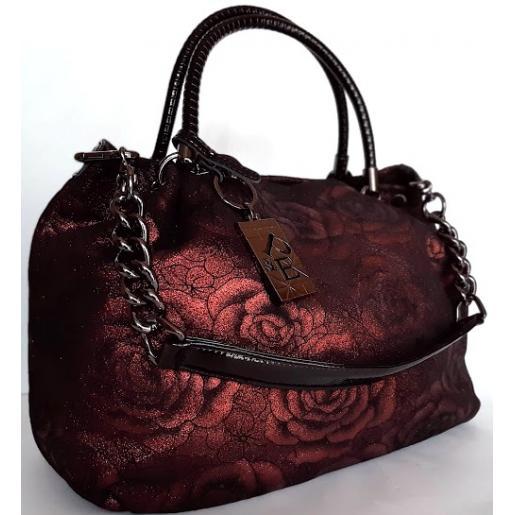 Женская кожаная сумка Polina & Eiterou 58N burgundy
