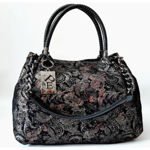 Женская сумка кожаная Polina & Eiterou Q202N Black