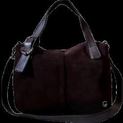 Женская сумка из натуральной замши коричневая VF78N