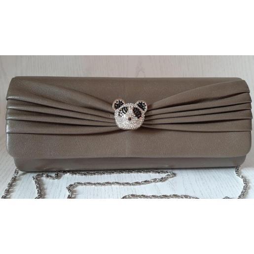 Женский клатч из кожзаменителя с оригинальным декором 860N Хаки
