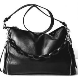 Женская кожаная сумка черная FR901N