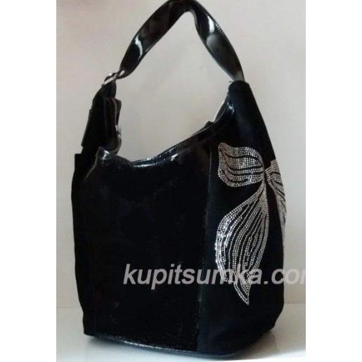 Женская замшевая сумка 92N Черный