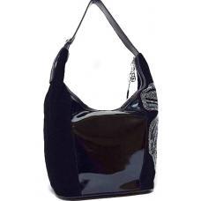 Женская замшевая сумка со стразами 92N Черный