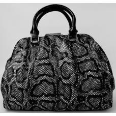Женская сумка кожаная ридикюль черная 369N-5