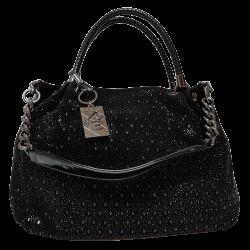 Женская сумка из замши черная Polina & Eiterou 201N
