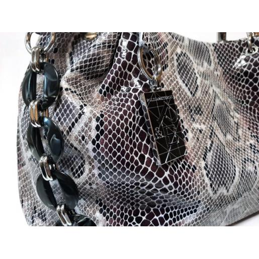 Женская кожаная сумка бежевая Q80N-39