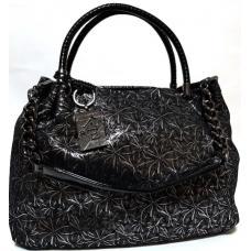 Кожаная сумка женская Polina & Eiterou Q203N Черный от магазина Натали