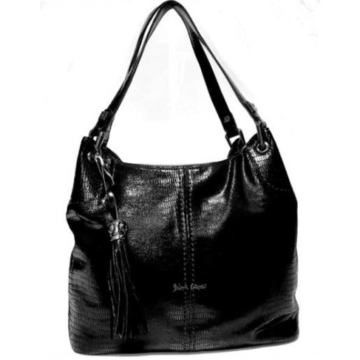 Женская сумка замшевая черная Polina & Eiterou PE461N