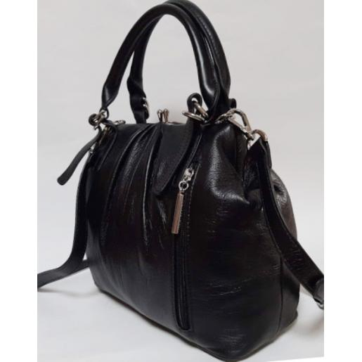 Женская сумка кожаная Mrs. Fortune Q193N Черный