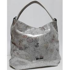 Женская кожаная сумка Bella Q709N Серебристый