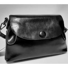 Женская сумка кожаная черная FR412N