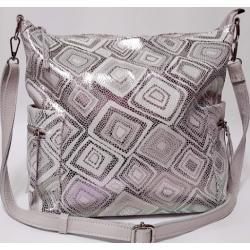 Женская кожаная сумка бежевая 299N