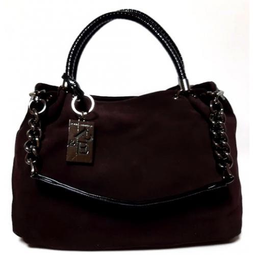 Женская сумка из коричневой замши Q501N