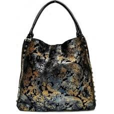 Женская сумка из замши Polina & Eiterou 343N black