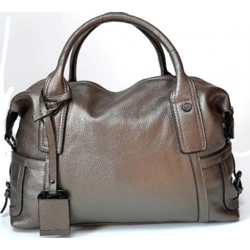 Женская кожаная сумка Polina & Eiterou 44N Графитовый