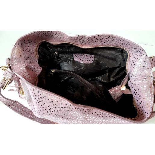 Женская кожаная сумка Q210-1N Pink