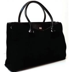 Женская сумка из замши черная VF53N