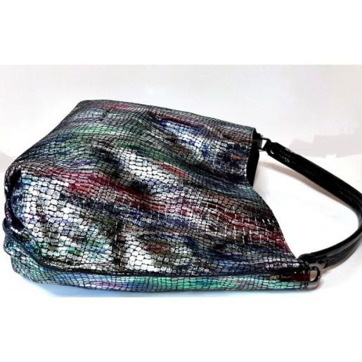 Женская кожаная сумка цветная Polina & Eiterou 238N