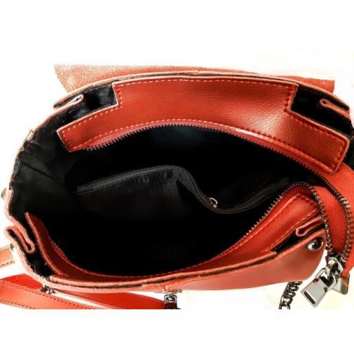 Женский кожаный клатч 28N-2 Красный