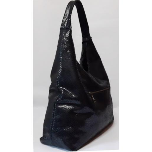 Женская большая кожаная сумка 199N Черный