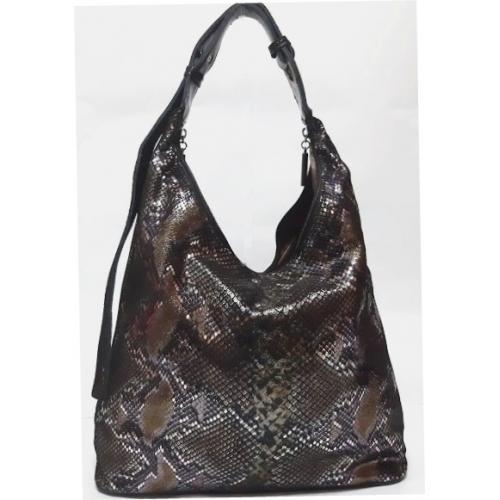 Женская кожаная сумка Polina & Eiterou 140N Питон