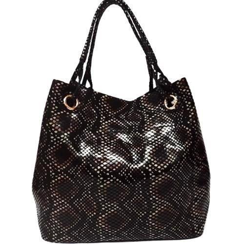 Кожаная женская сумка FR210N Питон