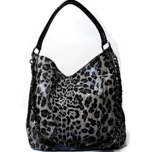 Женская сумка замшевая на плечо под питона 433N